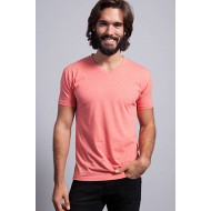 JHK TSUAPICO, Koszulka męska typu V-NECK, red heather