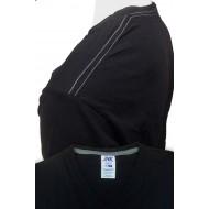 JHK TSUAPICO, Koszulka męska typu V-NECK, black/zink