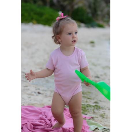 JHK TSRBBODY, Body dziecięce, kr. rękaw, pink