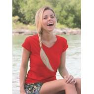 JHK TSRLPICO, Koszulka damska typu PICO, red