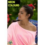 JHK TSULMLDV, Koszulka damska, rękaw 3/4 reglan, pink neon