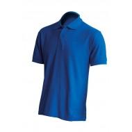 JHK PORA180, Polo męskie, kr. rękaw, royal blue