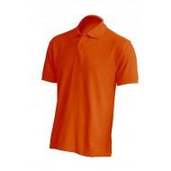 JHK PORA180, Polo męskie, kr. rękaw, orange
