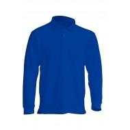 JHK PORA210LS, Polo męskie, dł. rękaw, royal blue