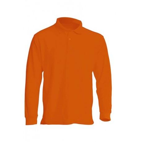 JHK PORA210LS, Polo męskie, dł. rękaw, orange