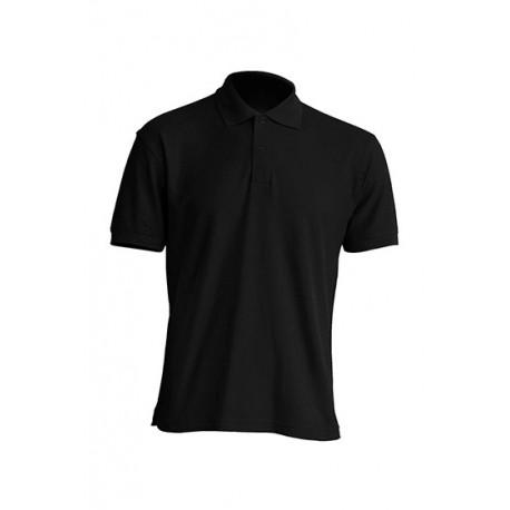 JHK PORA210WK, Polo męskie, kr. rękaw, 65% poliester, black
