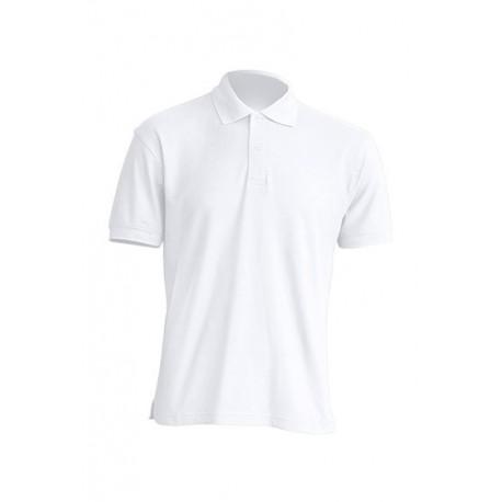 JHK PORA210WK, Polo męskie, kr. rękaw, 65% poliester, white