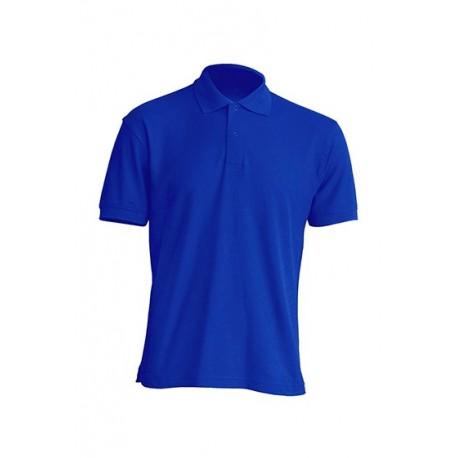 JHK PORA210WK, Polo męskie, kr. rękaw, 65% poliester, royal blue