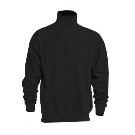 JHK SWRAZIP, Bluza dresowa z krótkim zamkiem męska, black