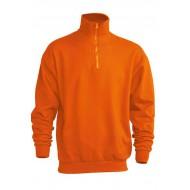 JHK SWRAZIP, Bluza dresowa z krótkim zamkiem męska, orange