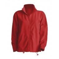 JHK FLRA300, Bluza polarowa rozpinana męska, red