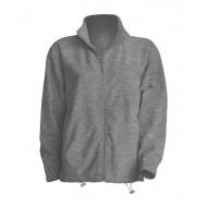 JHK FLRA300, Bluza polarowa rozpinana męska, grey melange