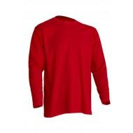 JHK TSRA150LS, Koszulka męska, dł. rękaw, red