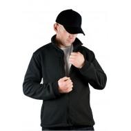 JHK FLRA340, bluza polarowa rozpinana unisex, black/black