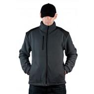 JHK FLRA340, bluza polarowa rozpinana unisex, graphite/black