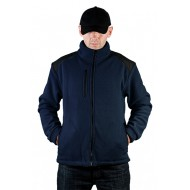 JHK FLRA340, bluza polarowa rozpinana unisex, navy/black