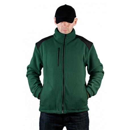 JHK FLRA340, bluza polarowa rozpinana unisex, bottle green/black