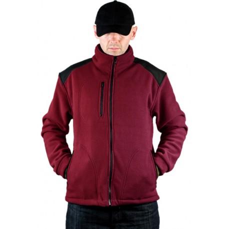 JHK FLRA340, bluza polarowa rozpinana unisex, burgundy/black