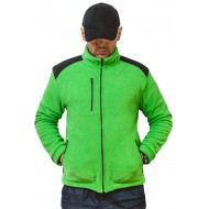 JHK FLRA340, bluza polarowa rozpinana unisex, kelly green/black
