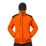 JHK FLRA340, bluza polarowa rozpinana unisex, orange/black