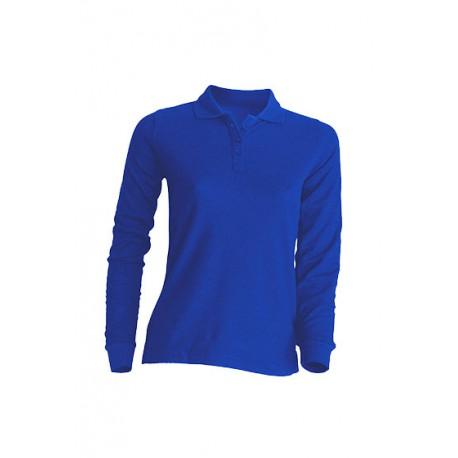 JHK POPL210LS, Polo damskie, dł. rękaw, royal blue