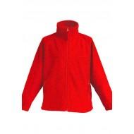 JHK FLRK300, Bluza polarowa rozpinana dziecięca, red