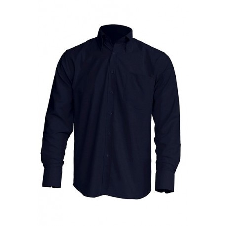 JHK SHRAPOP, Koszula męska z długim rękawem, navy