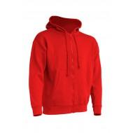 JHK SWUAHOOD, Bluza dresowa z kapturem męska, red