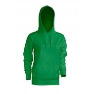 JHK SWULKNG, Bluza dresowa z kapturem damska, kelly green