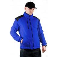 JHK FLRA340, bluza polarowa rozpinana unisex, royal blue/black