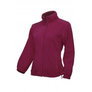 JHK FLRL300, Bluza polarowa rozpinana damska, burgundy