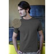 JHK TSUA150, Koszulka męska typu SLIM, grey melange