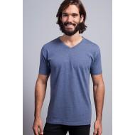 JHK TSUAPICO, Koszulka męska typu V-NECK, denim heather